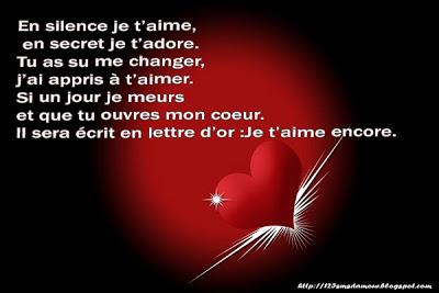 poèmes sms d'amour
