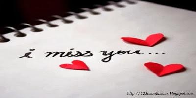 Message d'amour pour dire tu me manque - sms d'amour