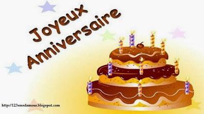 sms anniversaire gratuit -  Joyeux anniversaire