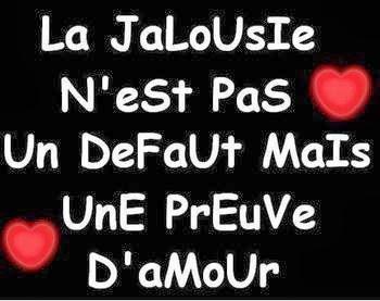 Un joli message et sms d'amour la jalousie