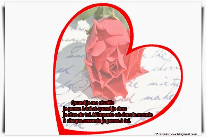 Magnifique message et sms d'amour
