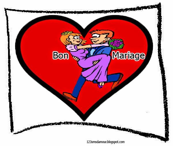 SMS et texto félicitation mariage