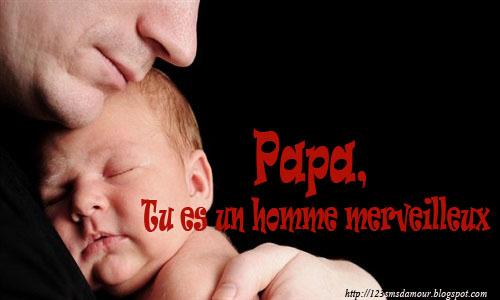Modèle sms d'amour pour père, je t'aime papa