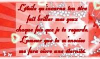 Poème d'amour court