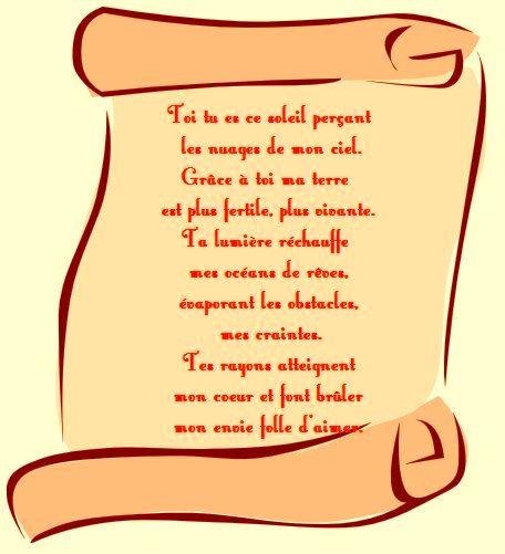 poème d'amour pour une femme
