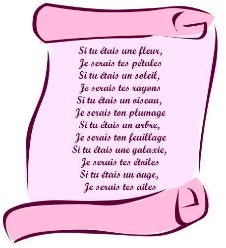 Joli poème d'amour court