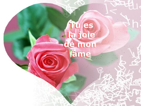 mots pour déclaration d'amour