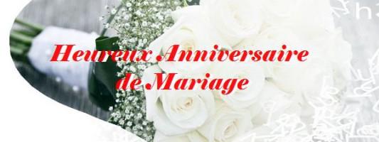 Mot d'amour pur l'anniversaire de mariage