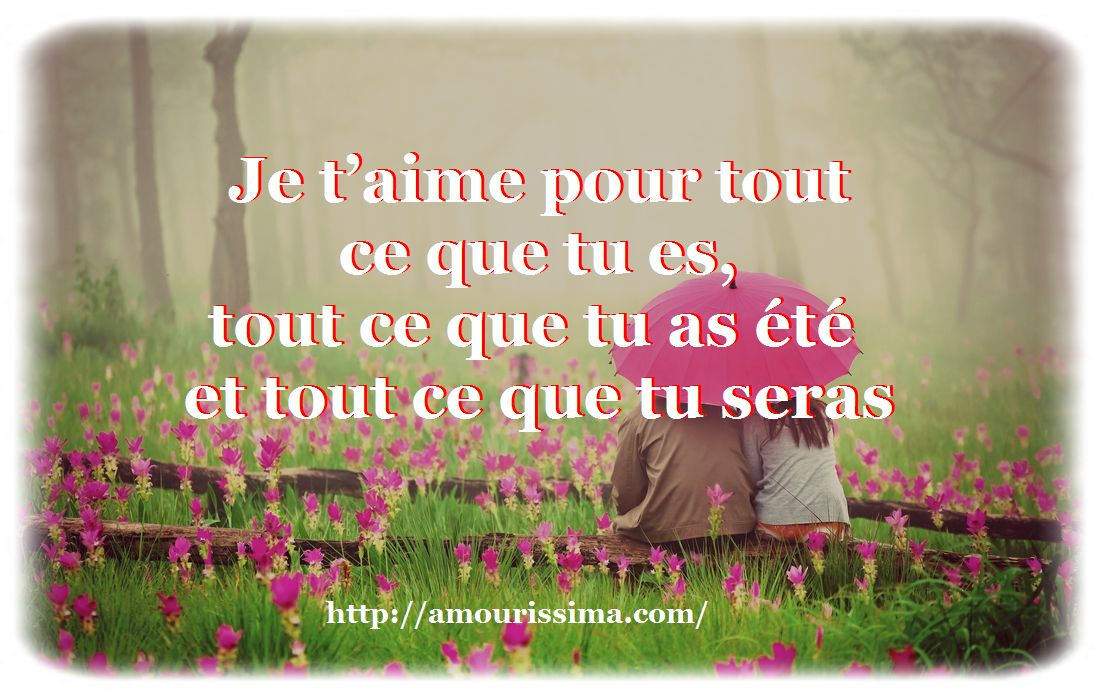 Beau message amour
