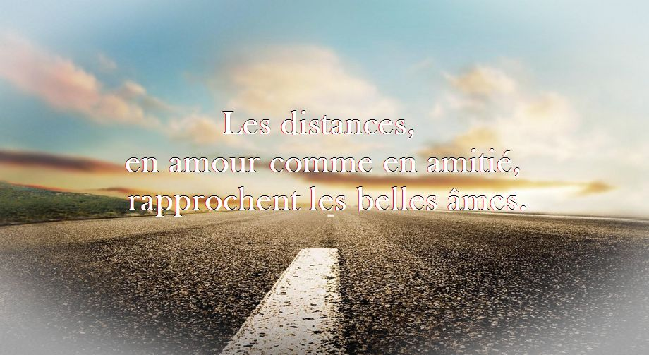 Belle citation sur l'amour à distance