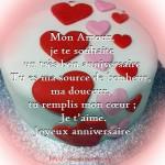 Texto joyeux anniversiare mon amour