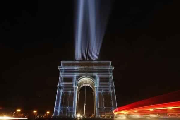 bonne année 2018 à Paris, France