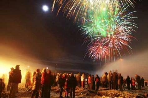 bonne année Reykjavik Iceland